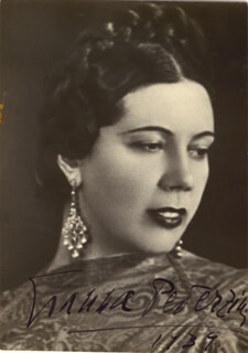 GIANNA PEDERZINI - PICTURE POST CARD SIGNED 1939