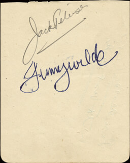JACK PETERSEN - AUTOGRAPH CO-SIGNED BY: JIMMY WILDE
