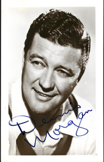 DENNIS MORGAN - PICTURE POST CARD SIGNED