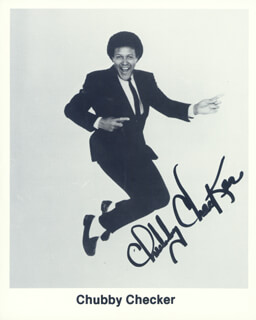 CHUBBY THE TWIST KING CHECKER - AUTOGRAPHED SIGNED PHOTOGRAPH