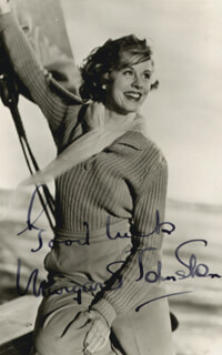 MARGARET JOHNSTON - AUTOGRAPHED SIGNED PHOTOGRAPH