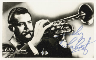 EDDIE CALVERT - PRINTED PHOTOGRAPH SIGNED IN INK