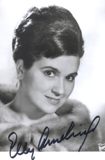 ELLY AMELING - AUTOGRAPHED SIGNED PHOTOGRAPH