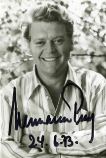 HERMANN PREY - AUTOGRAPHED SIGNED PHOTOGRAPH 06/24/1973