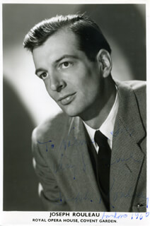 JOSEPH ROULEAU - AUTOGRAPHED INSCRIBED PHOTOGRAPH CIRCA 1960