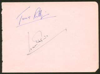 TERENCE RATTIGAN - AUTOGRAPH CO-SIGNED BY: SIR JOHN GIELGUD