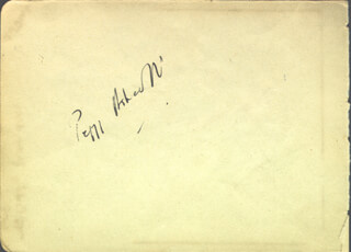 DAME PEGGY ASHCROFT - INSCRIBED SIGNATURE CO-SIGNED BY: JACQUELINE D'ORVILLE