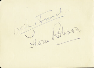 DAME FLORA ROBSON - AUTOGRAPH CO-SIGNED BY: LESLIE FRENCH
