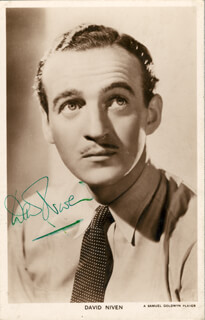 DAVID NIVEN - PRINTED PHOTOGRAPH SIGNED IN INK