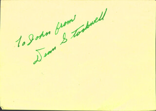 DEAN STOCKWELL - INSCRIBED SIGNATURE CIRCA 1947