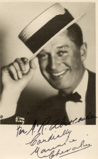 MAURICE CHEVALIER - AUTOGRAPHED INSCRIBED PHOTOGRAPH