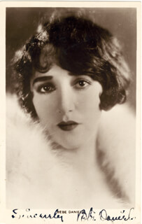 BEBE DANIELS - PICTURE POST CARD SIGNED