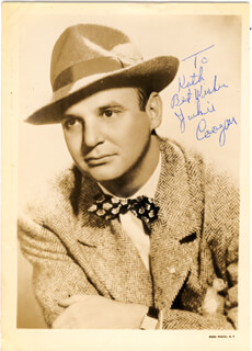 JACKIE COOGAN - AUTOGRAPHED SIGNED PHOTOGRAPH