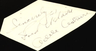 FRED ASTAIRE - AUTOGRAPH SENTIMENT SIGNED CO-SIGNED BY: ADELE ASTAIRE