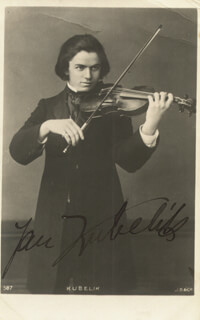JAN KUBELIK - PICTURE POST CARD SIGNED
