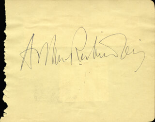 ARTHUR RUBINSTEIN - AUTOGRAPH CO-SIGNED BY: CLAUDIO ARRAU