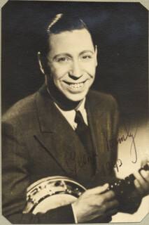 GEORGE FORMBY - AUTOGRAPHED SIGNED PHOTOGRAPH 1943