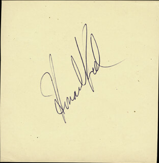 HOWARD KEEL - AUTOGRAPH