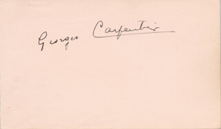 Autographs: GEORGES ORCHID MAN CARPENTIER - SIGNATURE(S)