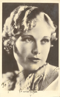 ESTHER RALSTON - INSCRIBED PICTURE POSTCARD SIGNED