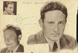 SPENCER TRACY - AUTOGRAPH CO-SIGNED BY: HAZEL ASCOT