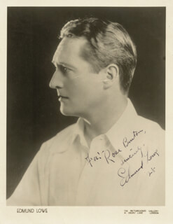 EDMUND LOWE - AUTOGRAPHED INSCRIBED PHOTOGRAPH 1928