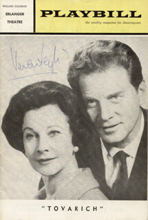 VIVIEN LEIGH - SHOW BILL SIGNED