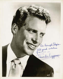 THEODOR UPPMAN - AUTOGRAPHED INSCRIBED PHOTOGRAPH