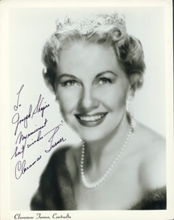 CLARAMAE TURNER - AUTOGRAPHED INSCRIBED PHOTOGRAPH