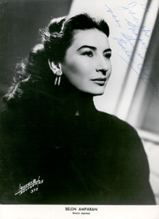 Autographs: BELEN AMPARAN - INSCRIBED PHOTOGRAPH SIGNED