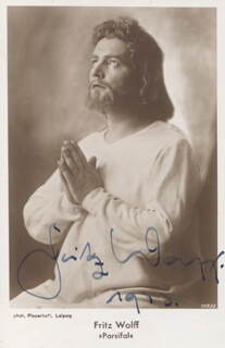 FRITZ WOLFF - AUTOGRAPHED SIGNED PHOTOGRAPH CIRCA 1933