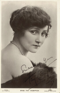 FAY COMPTON - PICTURE POST CARD SIGNED