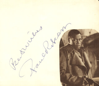 PAUL L. ROBESON - AUTOGRAPH SENTIMENT SIGNED CO-SIGNED BY: ELISABETH SCHUMANN