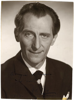 PETER CUSHING - AUTOGRAPHED INSCRIBED PHOTOGRAPH 1959