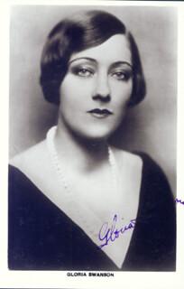 GLORIA SWANSON - PICTURE POST CARD SIGNED