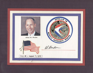 COLONEL ALFRED M. WORDEN - SPECIAL COVER SIGNED