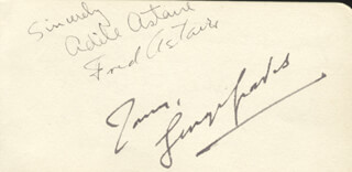 FRED ASTAIRE - AUTOGRAPH CO-SIGNED BY: ADELE ASTAIRE