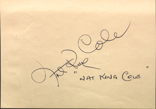 NAT KING COLE - AUTOGRAPH CO-SIGNED BY: KIRK DOUGLAS