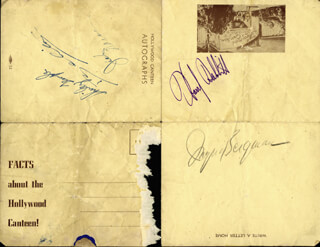 Autographs: INGRID BERGMAN - SIGNATURE(S) CO-SIGNED BY: BELITA, JACK CARSON, HARRY BABBITT, SHIRLEY TEMPLE