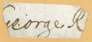 KING GEORGE I (GREAT BRITAIN) - AUTOGRAPH