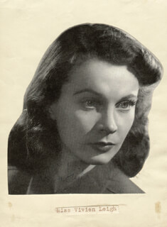 VIVIEN LEIGH - MAGAZINE PHOTOGRAPH SIGNED CO-SIGNED BY: ARCHIBALD SINCLAIR