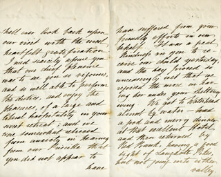 REAR ADMIRAL WILLIAM EDWARD PARRY - AUTOGRAPH LETTER SIGNED 09/23/1852
