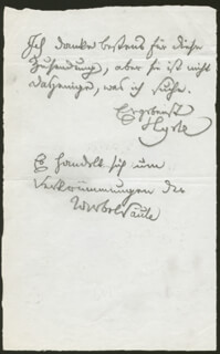 JOSEF HYRTL - AUTOGRAPH NOTE SIGNED