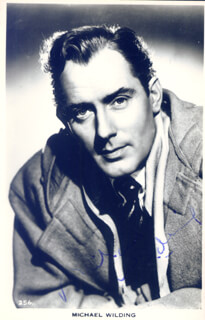 MICHAEL WILDING - PICTURE POST CARD SIGNED