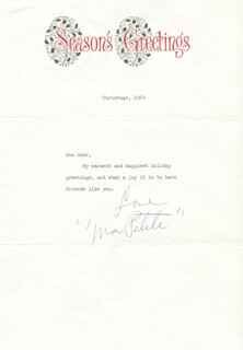 JOAN CRAWFORD - TYPED LETTER SIGNED 12/1964