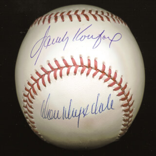 SANDY KOUFAX - AUTOGRAPHED SIGNED BASEBALL CO-SIGNED BY: DON DRYSDALE