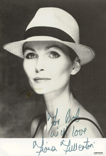 FIONA FULLERTON - AUTOGRAPHED INSCRIBED PHOTOGRAPH