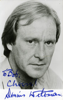DENNIS WATERMAN - AUTOGRAPHED INSCRIBED PHOTOGRAPH