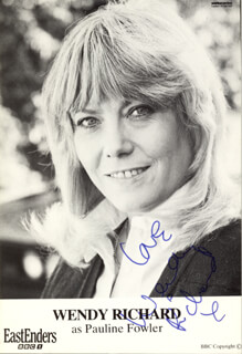 WENDY RICHARD - AUTOGRAPHED SIGNED PHOTOGRAPH