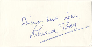 RICHARD TODD - AUTOGRAPH SENTIMENT SIGNED